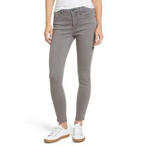 "Madewell 9"" High-Rise Skinny Raw-Hem Dyed Jeans 26"